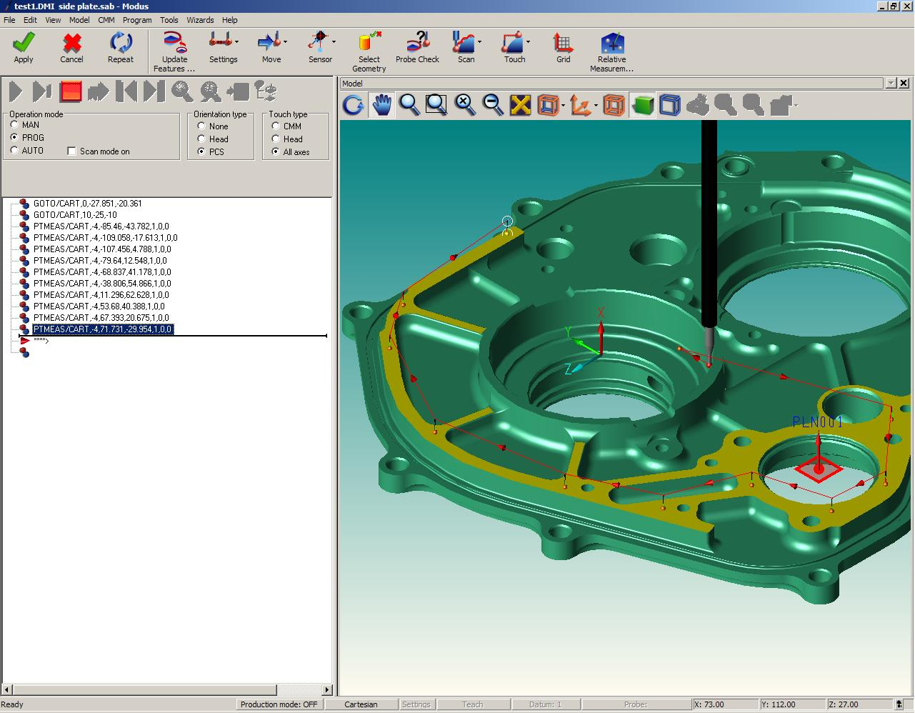 New MODUS™ CMM software supports powerful 5 axis measurement